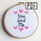 You and Me Cross Stitch Instant Download PDF Pattern (E-Pattern)