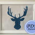 Cosmic Stag Cross Stitch Instant Download PDF Pattern (E-Pattern)