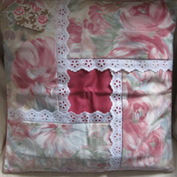 Shabby chic style cushion cover