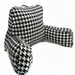 Bed pillow with arms in black and white houndstooth