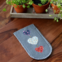 Felt Heart Sunglasses Case - Glasses - Large