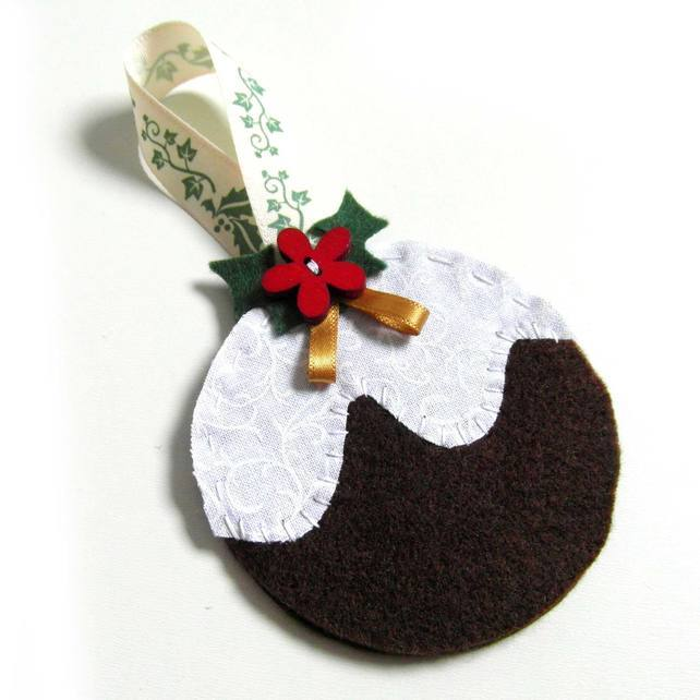 Christmas Pudding Decoration - Felt