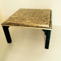 Gold and black oriental style coffee table