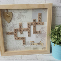 Personalised Scrabble Art Frame