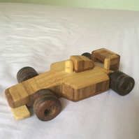 Wooden F1 racing car