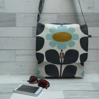 Handmade Matt Oilcloth Orla Keily Print Cross Body Bag