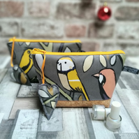 Little Birds Oilcloth Make-up Bag