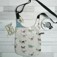 Butterfly design cross body bag