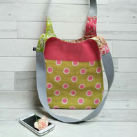 Textile and Oilcloth Shoulder bag