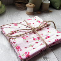 Pink Floral Coasters - Set of Four