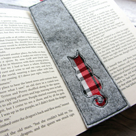Tartan Cat Bookmark