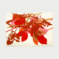 Autumn Leaves Artists Proof 1 One Off Screen Print by Fiona Hamilton