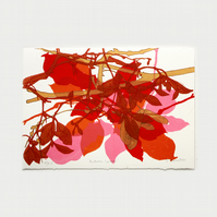 Autumn Leaves Artists Proof 2 One Off Screen Print by Fiona Hamilton