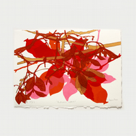 Autumn Leaves Artists Proof 3 One Off Screen Print by Fiona Hamilton