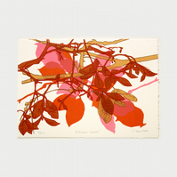 Autumn Leaves Artists Proof 6 One Off Screen Print by Fiona Hamilton