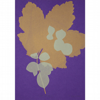 Leaf Study I One Off Hand Pulled Screen Print