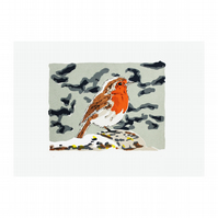 Robin Hand Pulled Limited Edition Screen Print