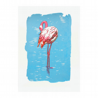 Flamingo Limited Edition Screenprint by Fiona Hamilton