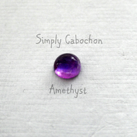 Amethyst cabochon gemstones 5 mm