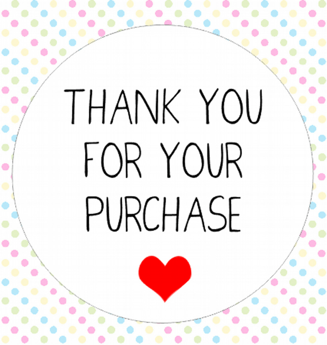 50x Thank You For Your Purchase Stickers Kiss C Folksy