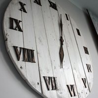Pallet Wood Wall Clock Art Industrial Vintage Rustic Retro Chabby Chic