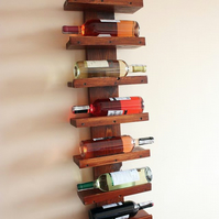 Handmade rustic reclaimed pallet wood wine rack 8 bottle and 2 g