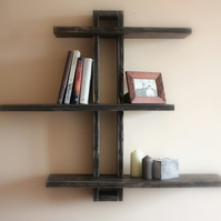 Modern rustic shelf display rack stand holder shelving display s