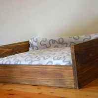 Rustic New Dog Bed Large Wooden Old Style Handmade