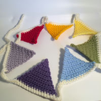 custom made crochet bunting