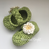 Daisy baby shoes 0-6 months