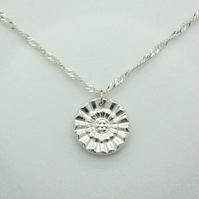 Rosette - Silver Necklace