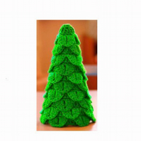 Crochet Miniature Christmas tree pattern, Christmas decoration, table decoration