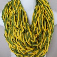 Single Wrap Chunky Stitch Arm Knitted Infinity Scarf Custom Colours