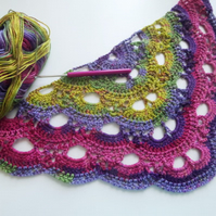 Virus or Shell Shawl and blanket crochet pattern. 2 patterns for price of one!