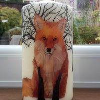 woodland fox candle