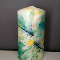 blue dragonfly candle