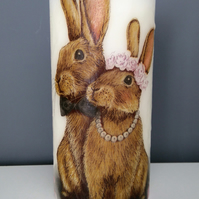 wedding rabbit  scented candle