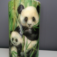 panda decorated candle
