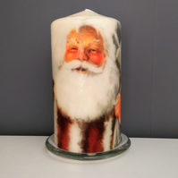 father christmas candle