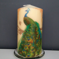 peacock  decorative candle
