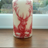 decorated deer candle