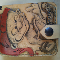 Leather-dwarf-Wallet-handmade