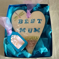 Mother's Day gift heart with dragonfly