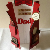 P&P Free! Dinner jacket Father's Day card