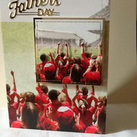 P&P Free! Father's Day football card.