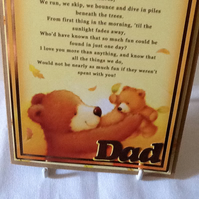 P&P Free! Father bear and cub Father's Day card.