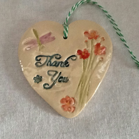 "Ceramic ""thank you"" heart"