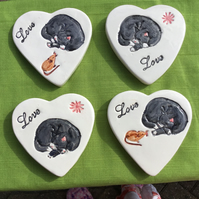 Set of 4 Cat and mouse coasters
