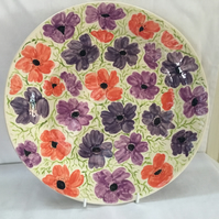 Large Anemone Platter for Family Gatherings.Tableware,Sunday Dinner Tableware