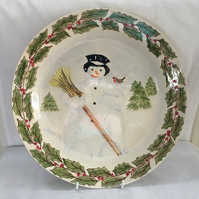 Snowman Christmas Platter. Tableware, Dining, Dinnerware, Christmas Entertainmen